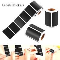 120pcs Waterproof Chalkboard Kitchen Spice Label Stickers Jam Jar Bottle Tag Js