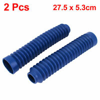 Motorcycle Rubber Front Shock Absorber Dust Protection Cover Royal Blue 2pcs