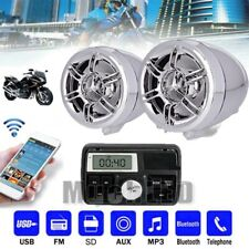 12V Bluetooth Audio FM Radio MP3 Stereo Speaker Sound System Motorcycle Bike ATV