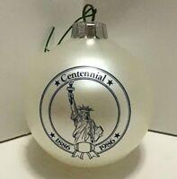 Christmas Centennial Ball Ornament Statue of Liberty Souvenir Collectible Vtg
