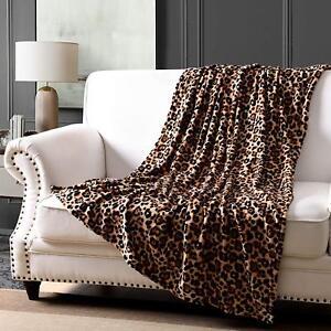 Fleece Throw Blanket Lap Throw Blanket, 50 x 60  Animal Printed