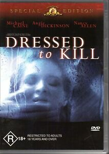 DRESSED TO KILL - DVD R4 (2002) Michael Caine Angie Dickinson - 1980 Film - RARE
