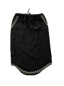 Black Flannel silk skirt Size 1 With Lining