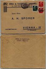 REGNO-25 c+coppia 75 c Imperiale(248+252)Busta Cusano Milano x Vienna 28.10.1935
