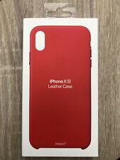 iPhone XR Apple Genuine European Leather Protective Cover Case Skin Red