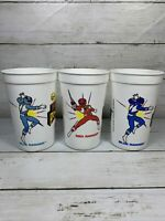 1994 Go, Go Power Rangers Cups Blue & Red Rangers Party Tumbler Cup Saban USA