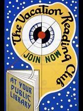 Pubblicità libreria la lettura ferie CLUB fine art print poster CC280
