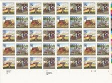 US Stamp - 1989 UPU Congress - 40 Stamp Sheet - Scott #2434-7