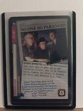 X Files CCG GenCon Promo No One So Paranoid - Unplayed New Mint