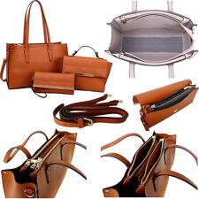 Ladies Tan Designer Large Office Bag Womens Laptop Briefcase Leather Tote Strap