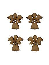 20x Christmas Angel 3cm Wood Craft Embelishments Laser Cut Shape MDF