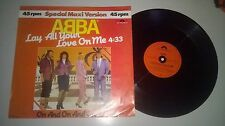 "LP Pop ABBA - Lay All Your Love On Me 12"" (2 Song) POLYDOR"