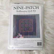 "Nine-Patch 22"" X 22"" Wall Hanging Quilt Kit #K1099 Designed by Rachel T Pellman"