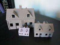 N Gauge OO or Z Model Railway Layout Buildings Stone Effect Cottage Houses