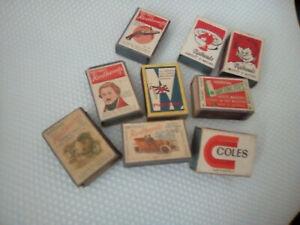 Vintage Matchbox Lot 9 boxes inc Greenlites boxes all complete