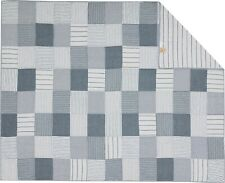 Denim Blue Twin Size Quilt Farmhouse Bedding Sawyer Mill Hand Quilted Patchwork