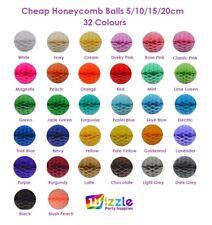 Cheap Honeycomb Balls 5/10/15/20cm Baby Shower Birthday Party Tissue Decoration