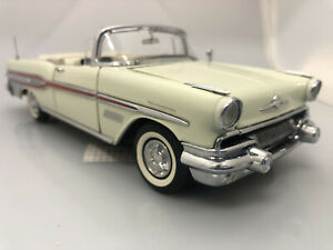 🔴  VB 59 Franklin Mint 1957 Pontiac Bonneville Convertible Ivory NOS