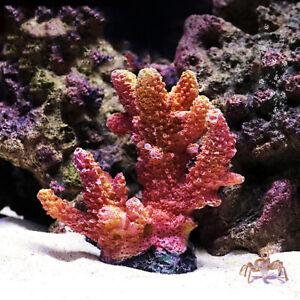 Simulation Fake Coral Reef Mini Orange Artificial Plant Aquarium Ornament Decor