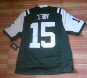 New Nike New York Jets #15 Tim Tebow NFL Onfield jersey M or L