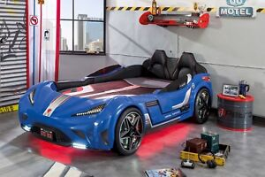 Autobett GTS 999 CARBED blau !!QUALITÄT!! TÜV, Kinderbett, Cilek Autobett