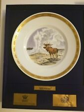Rare Royal Copenhagen The National Parks of America Collection Yellowstone Plate