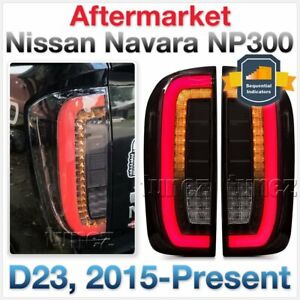 Smoke Sequential LED Tail Rear Lamp Lights For Nissan Navara NP300 D23 Car ST-X