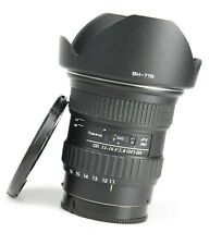 Tokina AT-X Pro 11-16mm F2.8 Wide Angle Zoom Lens Sony A F/R Lens Caps, Hood EXC