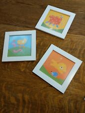 SET OF 3 IKEA KIDS ROOM WALL ART ANIMAL PICTURES