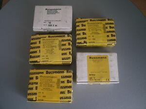 BUSSMAN NITD6 NITD10 NITD16 NITD32 ASSORTED HRC FUSE LINKS 100 IN TOTAL NEW