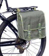 Army Surplus Showerproof Canvas Pannier Bag green bike vintage quality 1980s NOS