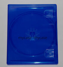 PS4 REPLACEMENT GAME CASE BLU-RAY TRANSLUCENT BLUE STANDARD SIZE (NEW)