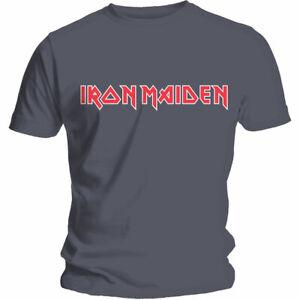 IRON MAIDEN - Logo Charcoal T-Shirt