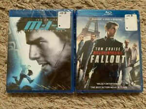 LOT (2) NEW Sealed MI3 & MISSION IMPOSSIBLE FALL OUT BLU-RAY + DVD + DIGITAL!