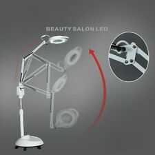 220V LED Cold Light Lamp 3X Magnifying Glass Nail Tattoo Beauty Salon Floor Lamp