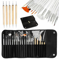 20pc Nail Art Design Painting Dotting Detailing Pen Brushes Bundle Tool Kit Set