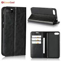 Luxury Genuine Leather Wallet Flip Case Cover For Asus Zenfone 4 Max ZC520KL
