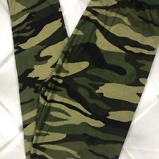 NWT PLUS SIZE Camo Print Buttery Soft Leggings Pants tc Army Military