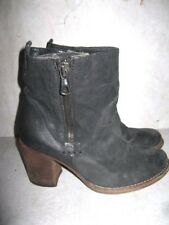 $225 STEVEN by Steve Madden Double Zipper Rag Shoes Boots 38 Made in Italy