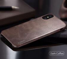 Coque Etuis Café noir X-Level Haute Qualité Vintage Luxe Cuir iPhone X