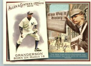 2011 Allen & Ginter This Date in History #TDH66 Curtis Granderson - Yankees
