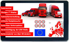 7 Zoll Navigationsgerät mit Rastplatzsuche für LKW Bus PKW, 24 V, über 40 Länder