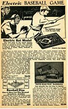 1950 small Print Ad of DeLuxe Electric Baseball Game, Dice & Foto-Electric Game