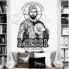Messi Football Star Barcelona Quote Wall Stickers Art Room Removable Decals DIY