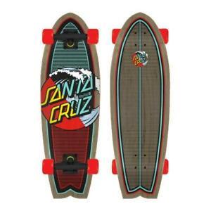 "Santa Cruz Complete Skateboard Classic Wave Splice Shark 8.8"" x 27"" Cruiser"
