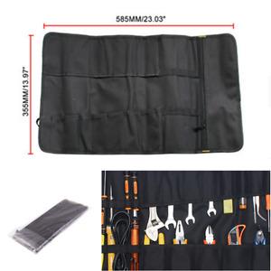 Motorcycle Bike Portable Tyre Repair Kit Tool Bag Large Capacity Oxford cloth