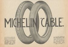 Z1787 Pneumatici MICHELIN Cable - Pubblicità d'epoca - 1923 Old advertising