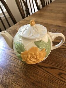 Vintage McCoy Yellow Rose Teapot