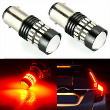 Brake Stop Tail light 48SMD 1157 2057 2357 7528 Bay15D LED Bulbs Projector,Red