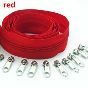 3# 5 Meter(5.4 Yard ) 20 Colors Nylon Coil Zippers by The Yard with 10pcs Slider